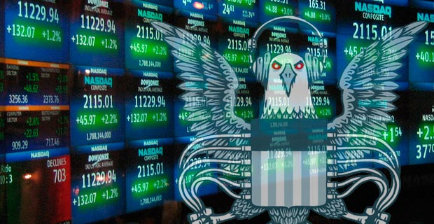 The NSA certainly has the capability to wreck havoc on the financial market.  Stock ticker image credit: Luis Villa del Campo / Wiki