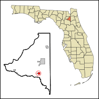The location of Hampton within Florida.  Credit: Arkyan / Wiki