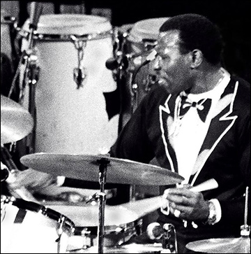 Elvin Jones / Photo by Tom Marcello, via Wikimedia Commons