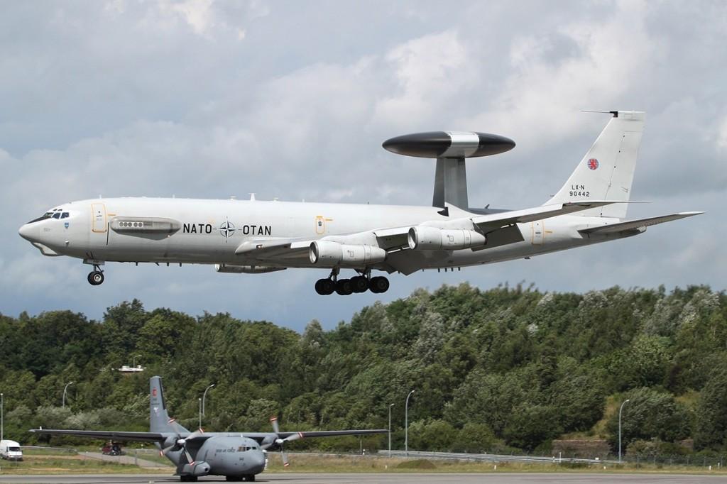 NATO AWACS are based in Geilenkirchen, Germany, and Waddington in the United Kingdom. Photo: Peter Bakema, Wikimedia Commons