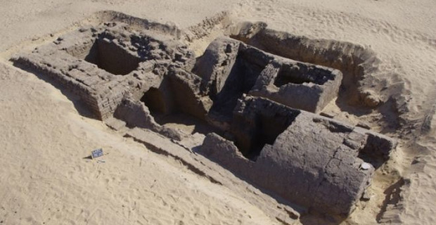 Dating back around 3,300 years this tomb was discovered recently at an ancient cemetery at Abydos in Egypt. At left the rectangular entrance shaft with massive walls served as a base for a small pyramid that was an estimated 23 feet. (Photo courtesy Kevin Cahail)