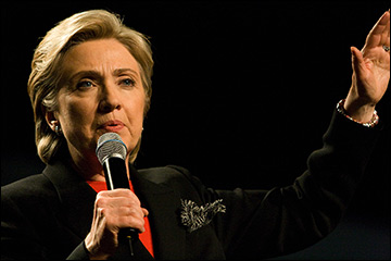 "Climate change not  ""just some ancillary issue,"" says Clinton /  Photo by Nrbelex, via Flickr"