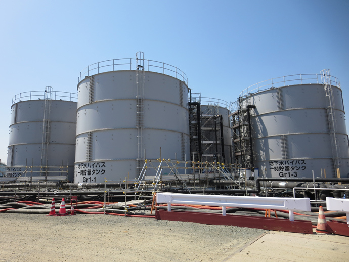 Temporary storage tank for groundwater bypass (Image from www.tepco.co.jp)