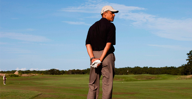 Obama is no stranger to golf courses during his presidency.