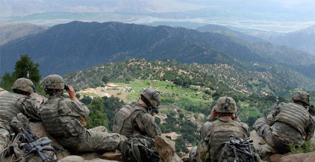 U.S. Army troops in Kunar province, Afghanistan.