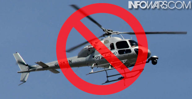 "The BLM ""no-fly zone"" is targeting news helicopters covering the story. Original photo credit: Peter Clarke / Wiki"