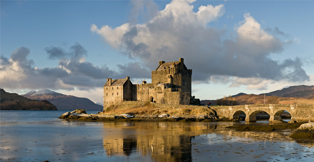 Eilean Donan Castle in Scotland, which was founded in the 13th century. Credit: Diliff / Wiki