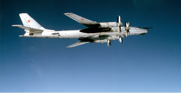 "The Tupolev Tu-95 ""Bear"" was first flown in 1952 and still serves as Russia's primary strategic bomber."