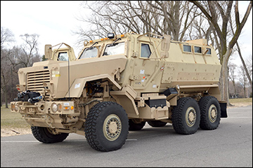 The Michigan City Police Department recently received a Mine Resistant Ambush Protected (MRAP) vehicle from by the U.S. military. According to MCPD, this vehicle will be used for training, incident command, active shooter events and high-risk warrant services. / Photo by Jessica O'Brien