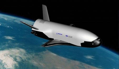 An artists' conception of the X-37B in Earth orbit. Credit: U.S. Air Force.