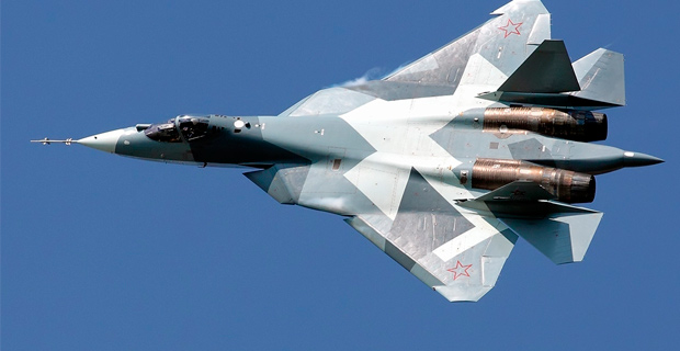A Sukhoi T-50 Maksimov made for the Russian Air Force. Credit: Alex Beltyukov / Wiki