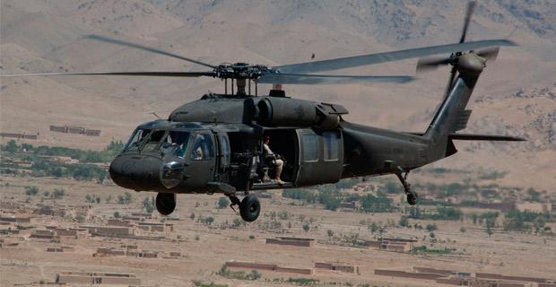 A Sikorsky UH-60 Black Hawk.