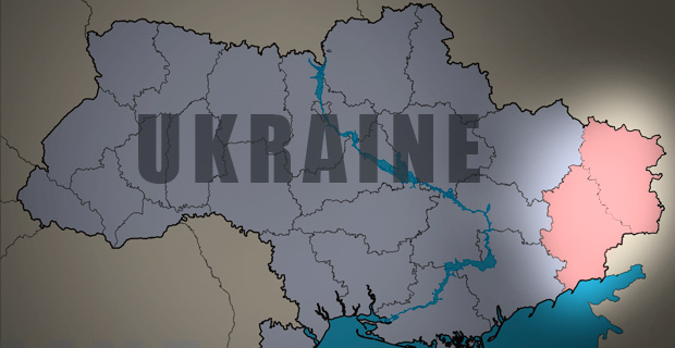 The Donetsk and Luhansk regions of eastern Ukraine. Luhansk is the region that is furthest east. Background image: Skluesener / Wiki