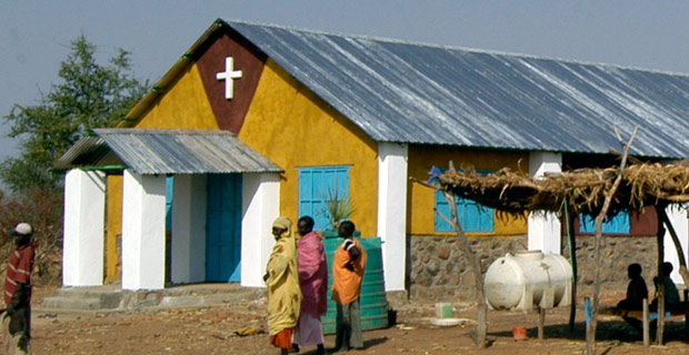 Nukta church near the Nuba Mountains of Sudan.  Credit: Maureen Didde / Flickr