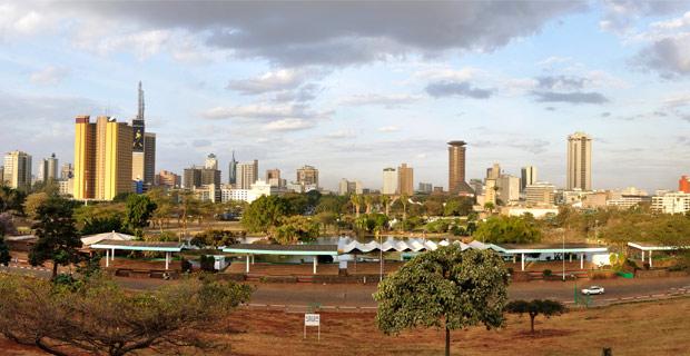 The skyline of Nairobi, Kenya.  Credit: Hansueli Krapf / Wiki