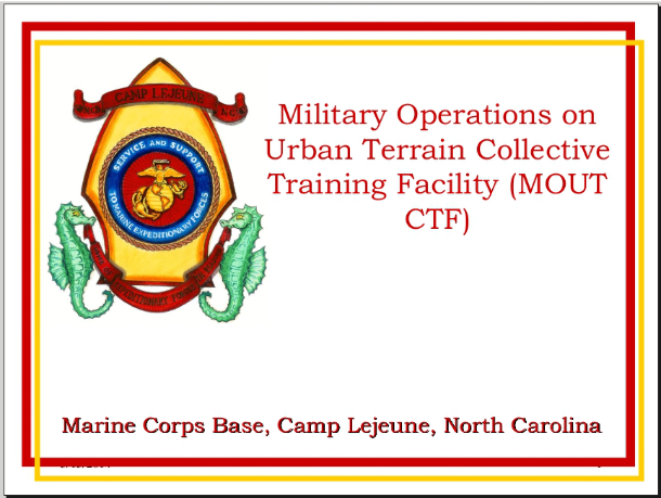 "Training Facility,"""