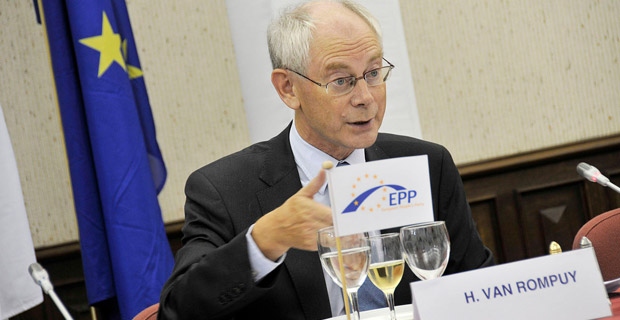 "President of the European Council, Herman Van Rompuy, said that even if there is little public support for expanding the globalist union to the border of Russia, ""we do it anyway."" Photo: European People's Party via Wikimedia Commons"