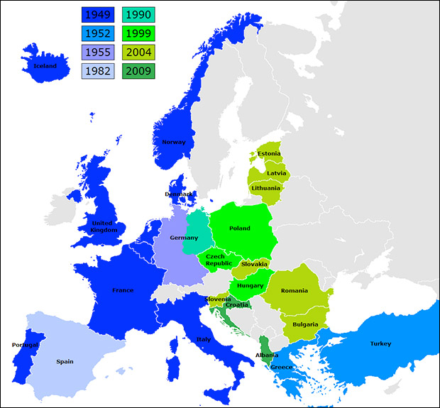 NATO expands. Who is the aggressor? Image by Kpaliond via Wikimedia Commons
