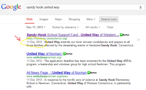 Connecticut Tries to Hide Sandy Hook Truth united way google1