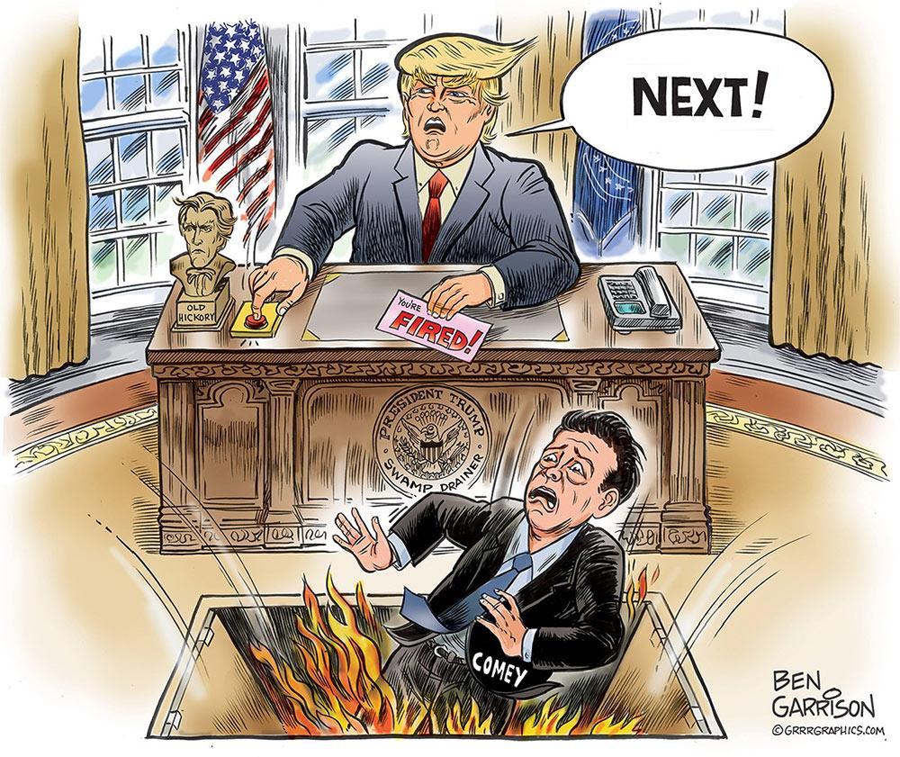 Trump Fires Comey: New Ben Garrison Art