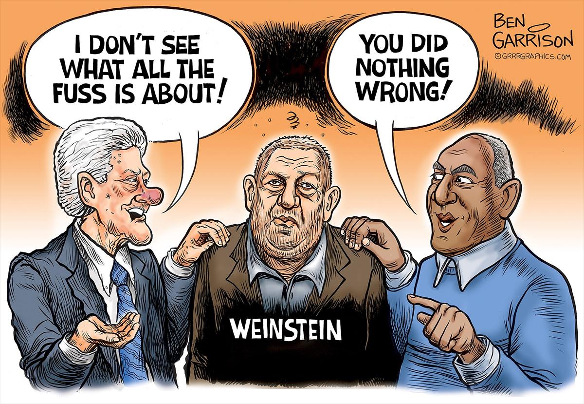 Image result for Weinstein scandal CARTOON